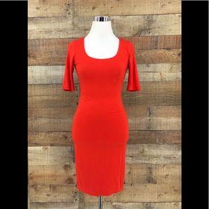 Diane von Furstenberg Red Orange Shift Dress Sz P